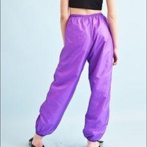 Nike purple wind breaker pants
